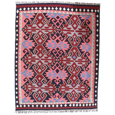 Turkish Bashir Hand-Knotted Wool Peach Area Rug