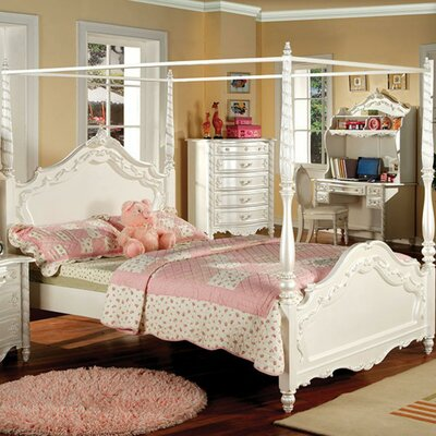 Salome Wooden Canopy Bed Size: Twin