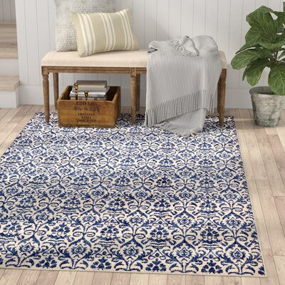 Alcera Blue Area Rug Rug Size: Rectangle 7 x 10