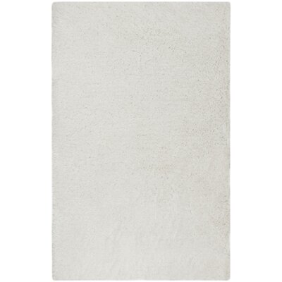 Loyola Shag Hand-Tufted Ivory Area Rug Rug Size: Rectangle 4 x 6