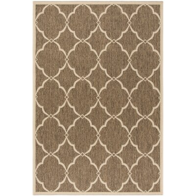 Miesha Beige/Cream Area Rug Rug Size: Rectangle 51 x 76