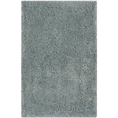 Loyola Shag Hand-Tufted Blue Area Rug Rug Size: Rectangle 3 x 5