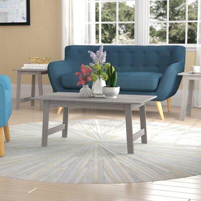 Kona 3 Piece Coffee Table Set Color: Gray