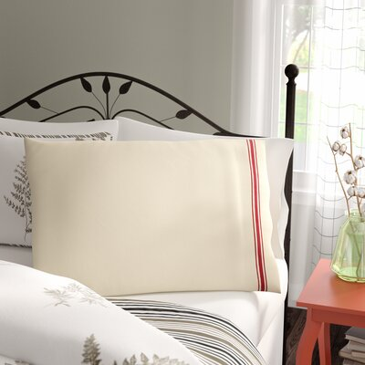 Boucher Cotton Pillow Cover Color: Red