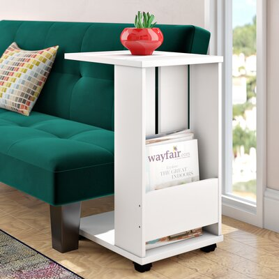 Gilmer End Table Color: White