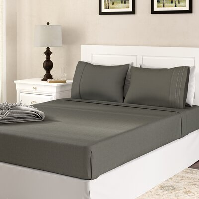 Alonzo Modern Rayon from Bamboo Egyptian Comfort Sheet Set Size: Queen, Color: Gray