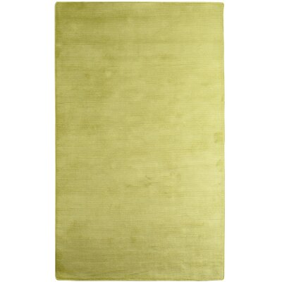 Ice Rayon from Bamboo Green Area Rug Rug Size: Runner 26 x 8