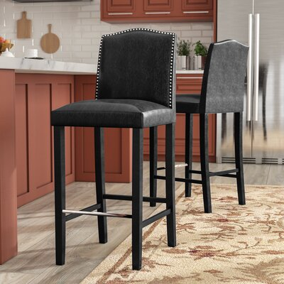 Kingsview 30.5 Bar Stool Upholstery: Black