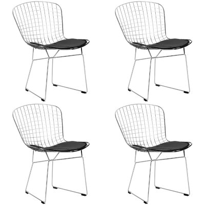Makris Dining Chair Color: Black