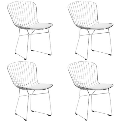 Makris Dining Chair Color: White