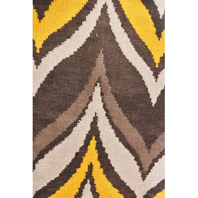 Marguez Modern Brown/Yellow Area Rug