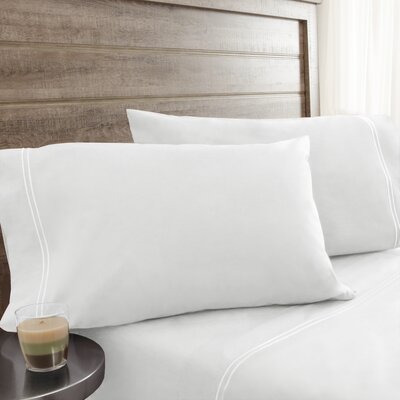 Fielden Soft Washed 200 Thread Count 100% Cotton Sheet Set Color: White, Size: Queen