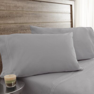 Fielden Soft Washed 200 Thread Count 100% Cotton Sheet Set Color: Light Gray, Size: Full