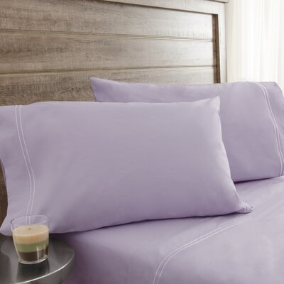 Fielden Soft Washed 200 Thread Count 100% Cotton Sheet Set Color: Light Orchid, Size: Full