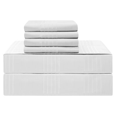 Gerardo Premium 420 Thread Count 100% Cotton Sheet Set Size: King, Color: White