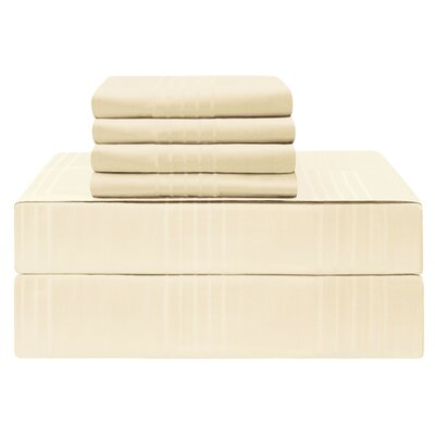 Gerardo Premium 420 Thread Count 100% Cotton Sheet Set Size: King, Color: Ivory