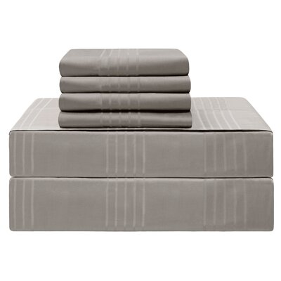 Gerardo Premium 420 Thread Count 100% Cotton Sheet Set Size: California King, Color: Charcoal