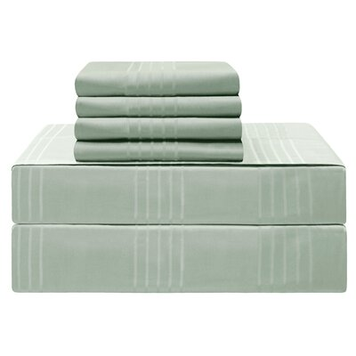 Gerardo Premium 420 Thread Count 100% Cotton Sheet Set Size: King, Color: Aqua