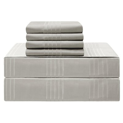 Gerardo Premium 420 Thread Count 100% Cotton Sheet Set Size: King, Color: Silver