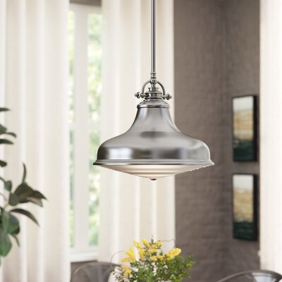 Eden 1-Light Mini Pendant Finish: Brushed Nickel, Size: Large