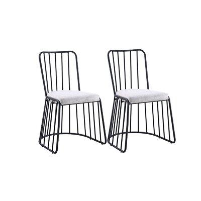 Dasilva Upholstered Dining Chair Frame Color: Black