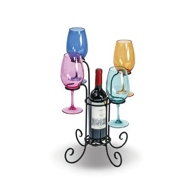 Hetzel Waterfall 1 Bottle Tabletop Wine Glass Rack