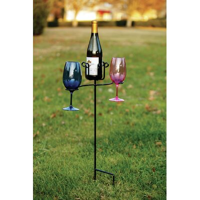 Heuer 1 Bottle Tabletop Wine Glass Rack