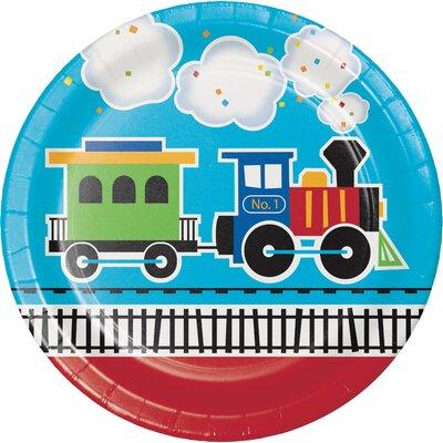 All Aboard Train Paper Plate DTC322203DPLT