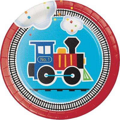 All Aboard Train Appetizer Plate DTC322204PLT