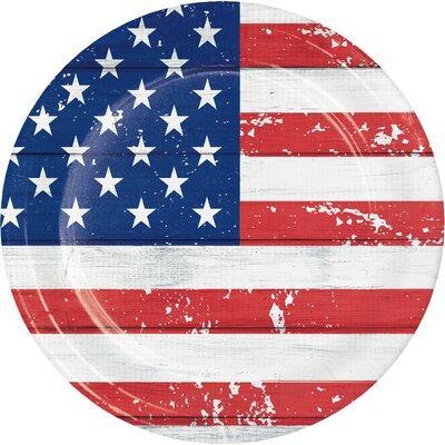 Patriotic Glory Paper Dessert Plate DTC327212DPLT