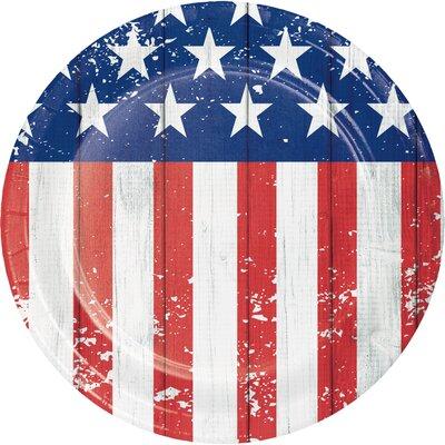 Patriotic Glory Paper Appetizer Plate DTC327211PLT