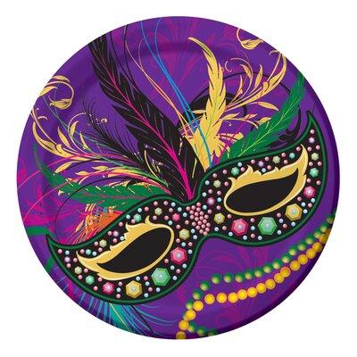 Mardi Gras Masks Paper Dessert Plate DTC422196DPLT