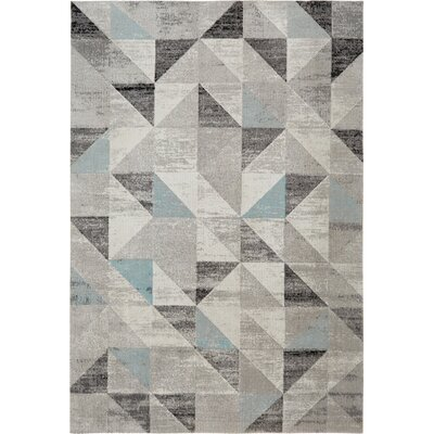 Sofia Gray/Blue Indoor/Outdoor Area Rug Rug Size: Rectangle 79 x 102