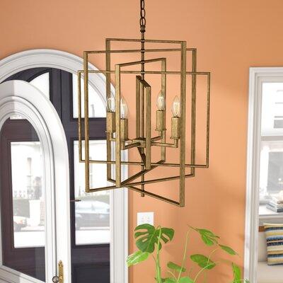 Yarnell 4-Light Foyer Pendant Finish: Antique Gold