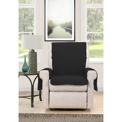 Chair Cover Armchair Slipcover Upholstery : Black/Cream