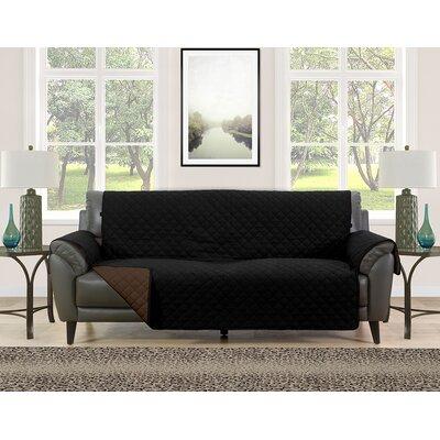 Sofa Slipcover Upholstery: Black/Brown