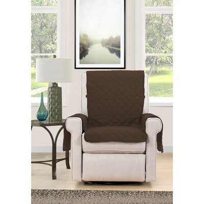 Chair Cover Armchair Slipcover Upholstery : Brown/Cream