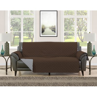Sofa Slipcover Upholstery: Brown/Gray