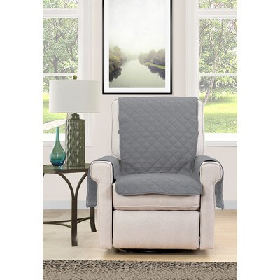 Chair Cover Armchair Slipcover Upholstery : Gray/Cream