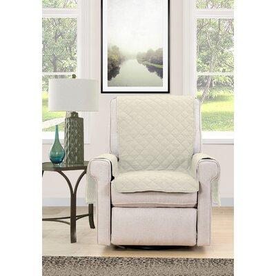 Chair Cover Armchair Slipcover Upholstery : Cream/Navy