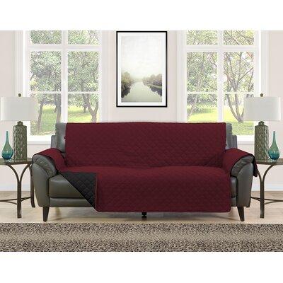 Sofa Slipcover Upholstery: Burgundy/Black