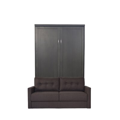 Delapaz Queen Upholstered Murphy Bed Color: Millwork Brown