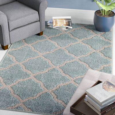 Pipestone Beach Glass/Beige Area Rug Rug Size: 5' x 7'6