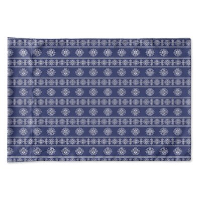 Damascus Pillow Case Size: Queen, Color: Navy