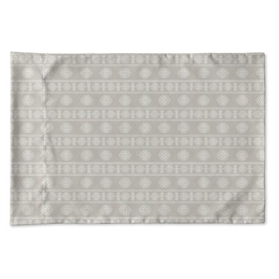Damascus Pillow Case Size: Queen, Color: Taupe