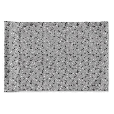Elgin Floral Pillow Case Size: Queen, Color: Gray