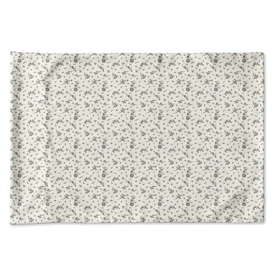 Elgin Floral Pillow Case Size: Queen, Color: Ivory