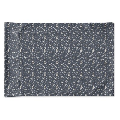 Elgin Floral Pillow Case Size: Queen, Color: Navy