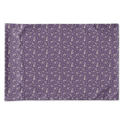 Elgin Floral Pillow Case Size: Queen, Color: Purple