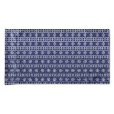 Damascus Pillow Case Size: King, Color: Navy